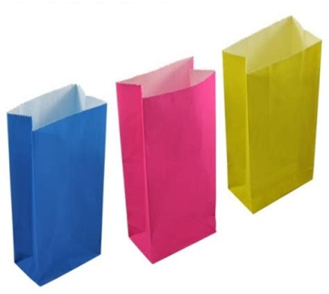 Coloured Craft Paper - quot ur quot one sweet day coloured craft paper bags
