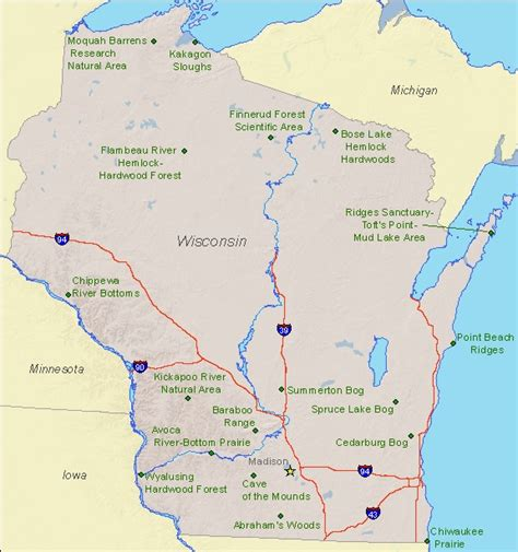 parks wi wisconsin state parks map usa maps us country maps