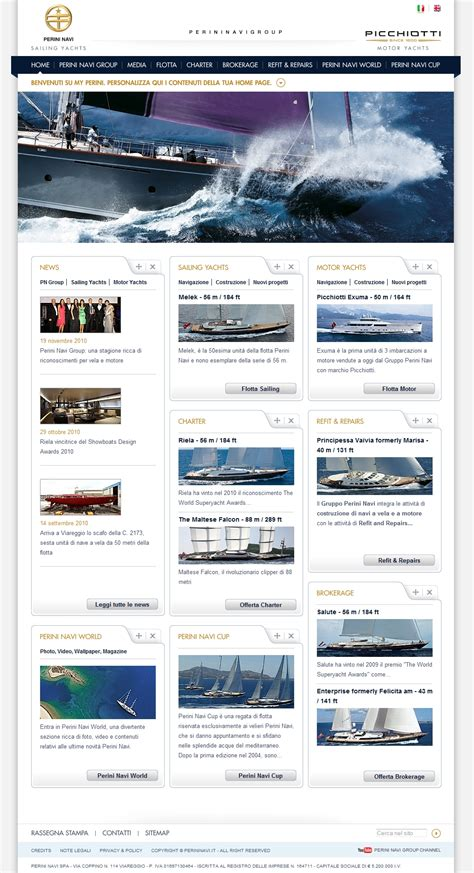 perini navi group s new website home page luxury yacht