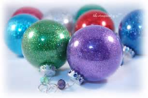 glitter inside clear glass ornaments