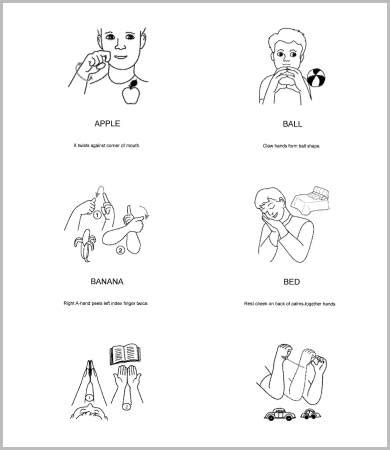 baby sign language chart template baby sign language charts 5 free pdf documents