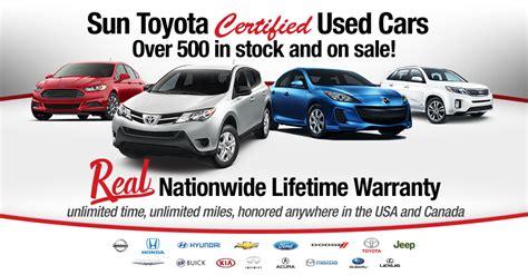 Sun Toyota Service Repair Coverage