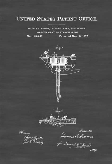 tattoo gun patent stencil pen patent print tattoo gun patent thomas