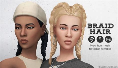 hfs braided hair sims 3 sims 4 cc s the best braid hair for females by