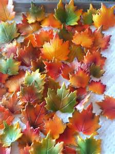 fall cake decorations fall maple leaves cake decorations edible