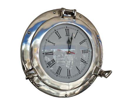 Chrome Theme Clock | buy chrome decorative ship porthole clock 15 inch