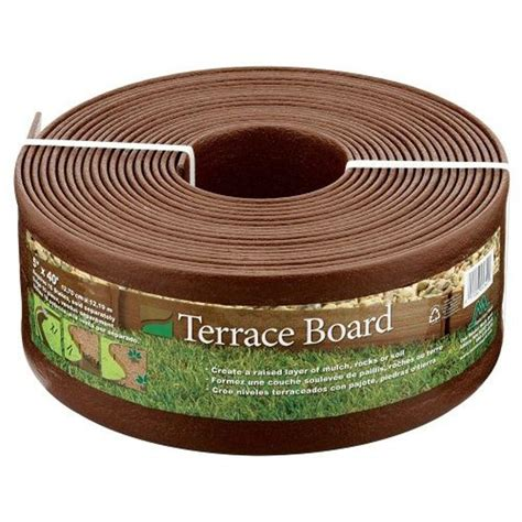 master terrace board 5 in x 40 ft brown landscape