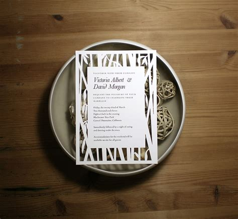 Bamboo Paper Wedding Invitations by 1000 Images About Wedding Details On Coral