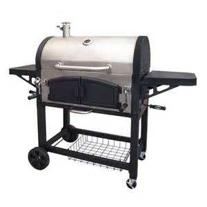 dual zone stainless steel bbq barbecue charcoal grills