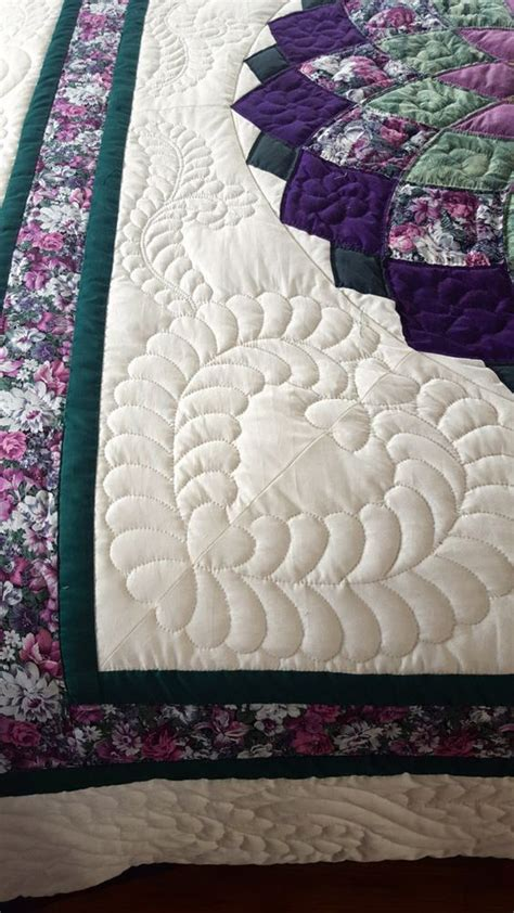 dahlia pattern amish quilt by quiltsbyamishspirit on