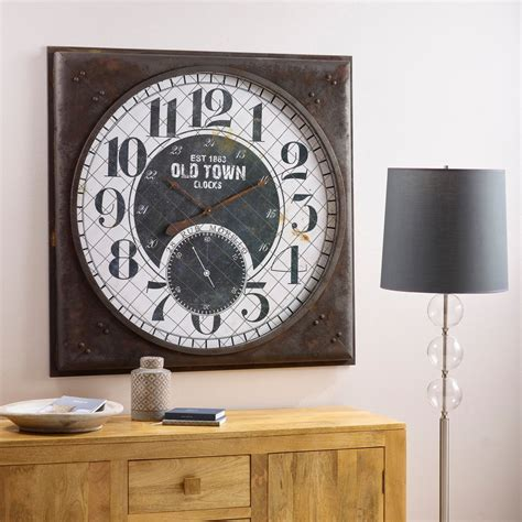 Oak Furniture Land Clocks by Morillo Wall Clock By Oak Furniture Land