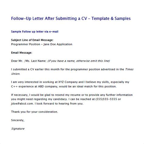 second follow up email after interview templates csat co