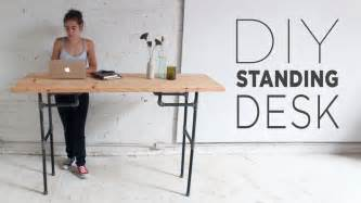 Make A Standing Desk diy plumbers pipe standing desk