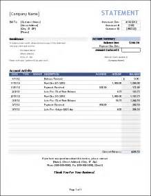 tax invoice statement template free billing statement template for invoice tracking