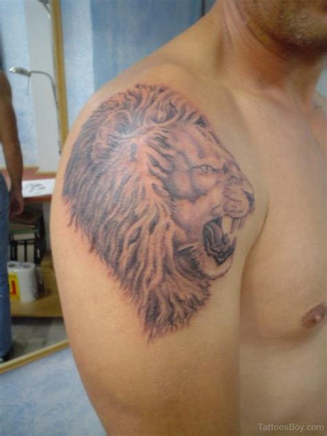 tattoo on shoulder face lion tattoos tattoo designs tattoo pictures page 2