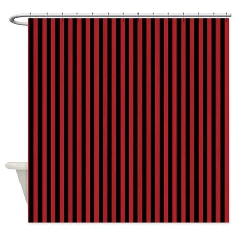 red black and white shower curtains red and black pirate stripes shower curtain by be inspired