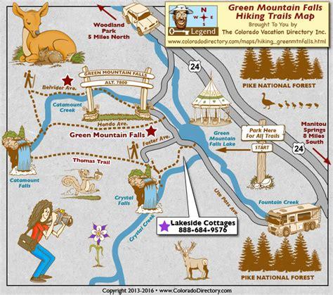 green mountain falls hiking trails map colorado vacation