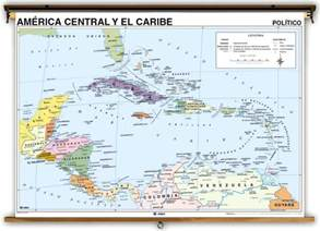 Central America Map In Spanish by Spanish Language Central America And Caribbean Political