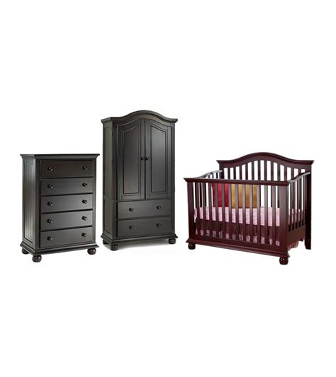 sorelle vista armoire sorelle vista 3 piece nursery set in espresso crib 5