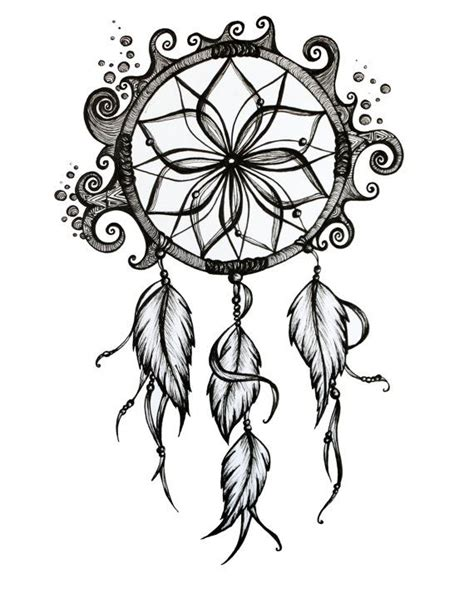 dreamcatcher tattoo drawing dreamcatcher drawing 8x10 pen and ink print by