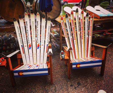 colorado ski chairs adirondack ski chair with colorado front board colorado