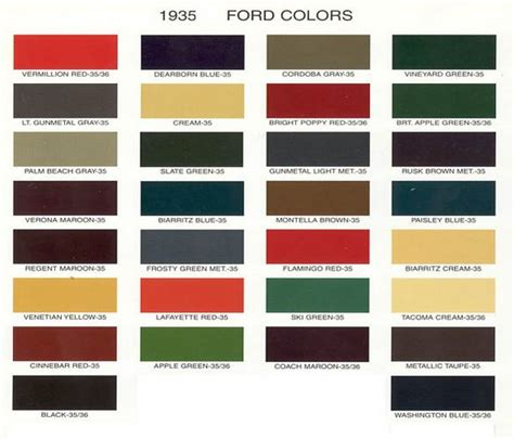 ford car colors vintage ford paint chips 1935 faux fordite inspiration