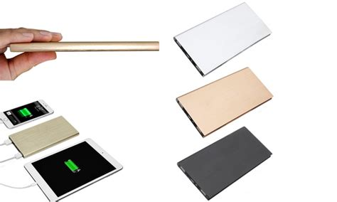 Powerbank Slim Viverr 20 000mah ultra slim 8 000mah power bank groupon goods