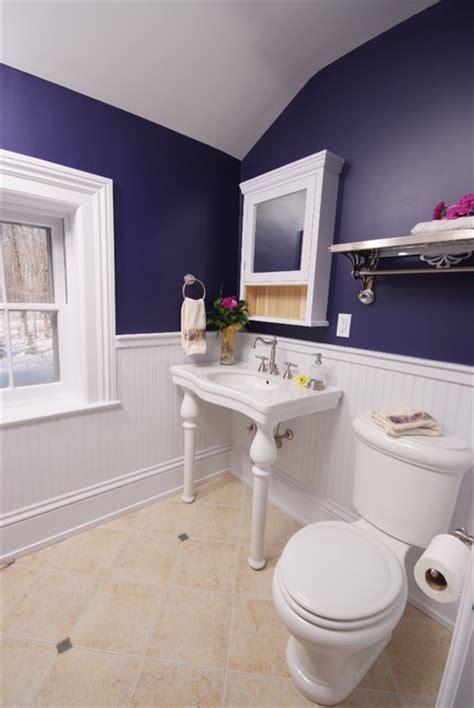 deep purple bathroom bathroom restored traditional bathroom cleveland