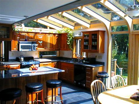 kitchen expansion using a sunroom corner addition contemporary porch boston by brady