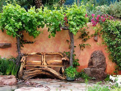 superior  como decorar mi casa de campo #1: carved-wooden-garden-seat.jpg