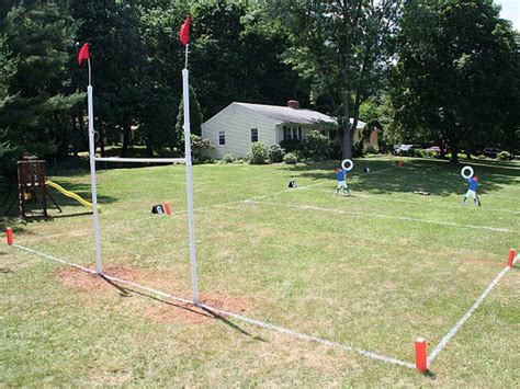 football field in backyard how to build a ladder drill and finish a football field