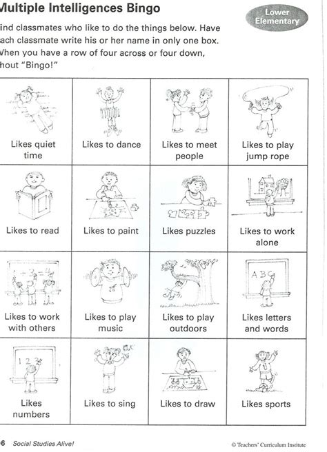 printable learning styles questionnaire 113 best images about multiple intelligences on pinterest