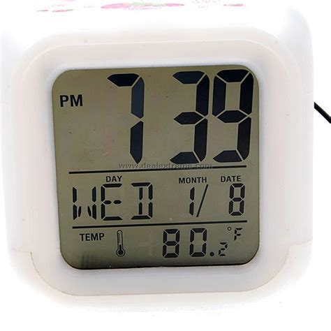 large display moodicare digital desktop alarm clock