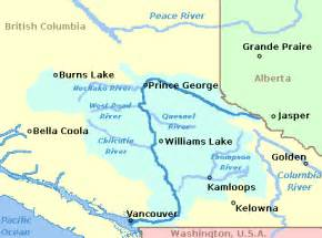 river canada map file fraserriverbritishcolumbia location png