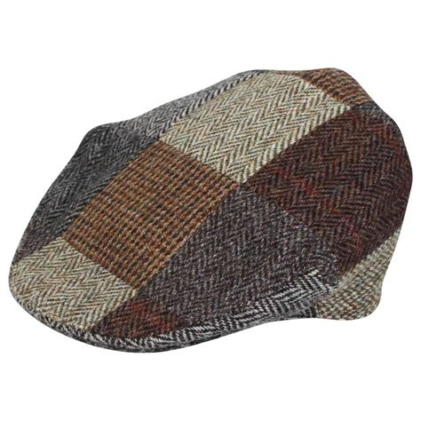 Patchwork Tweed Cap - harris tweed patchwork cap rheged patchwork classic