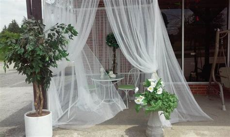 pool deck furniture layout arch dsgn garden pergola gazebo white curtain canopy outdoor