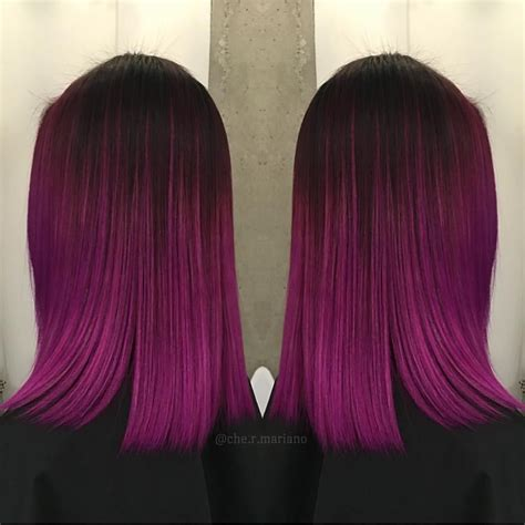 fuchsia hair color winter pink fuchsia ombre hair color by che r mariano the