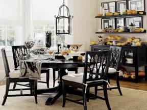 black dining room table decorating ideas