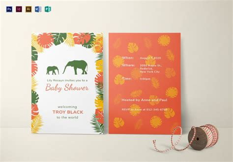 illustrator invitation card template 32 baby shower card designs templates word pdf psd