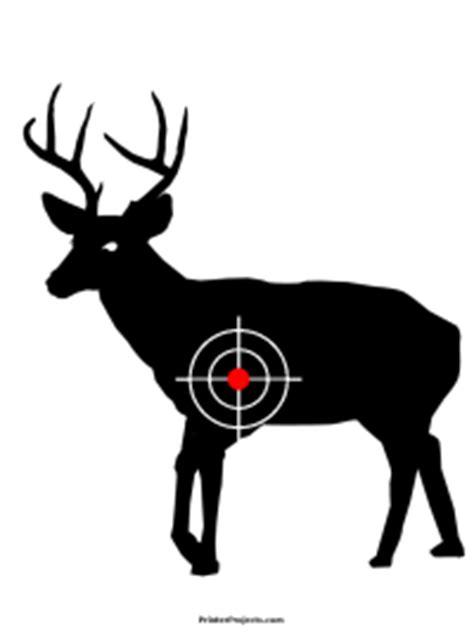 printable deer shooting targets printable deer target with bullseye clipart best