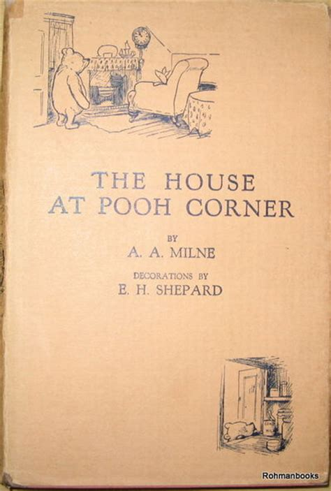 Novel Grafis The House At Pooh Corner A A Milne the house at pooh corner by a a milne edition impression from 1st editions and