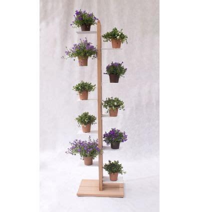 porta vasi in legno portavasi verticale in legno per interni zia flora