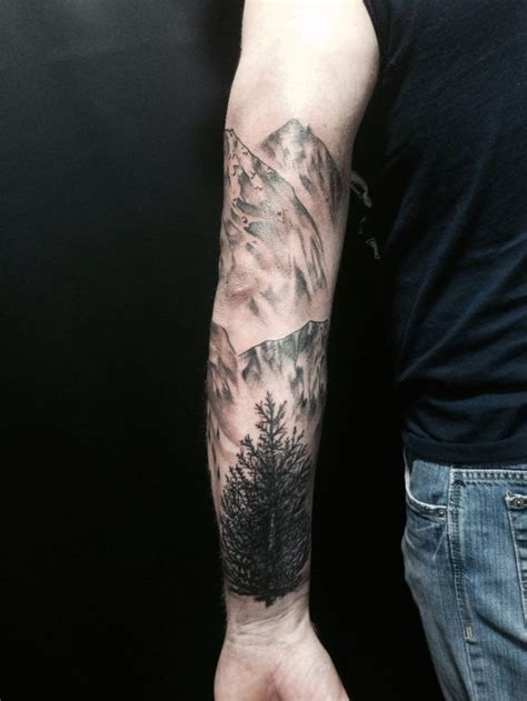 mountain tattoo mountain and tree carey s