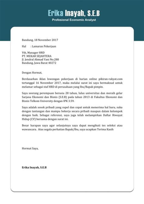 form surat lamaran kerja yang benar cover letter with no name 283 cover letter templates for