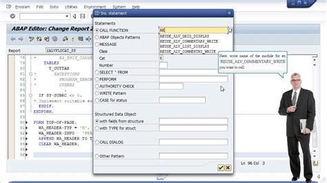 alv tutorial in sap abap alv field catalog creation sap abap youtube