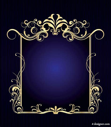 european style gold frame pattern vector 4 designer gorgeous european border 01 vector material