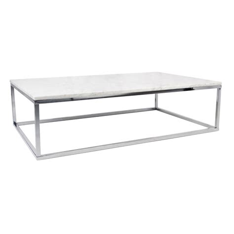 modern marble table l prairie wht chrome marble coffee table by temahome eurway