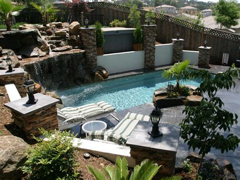 Pool Backyards by Landscape Design Ideas Backyard Pool Landscape Ideas