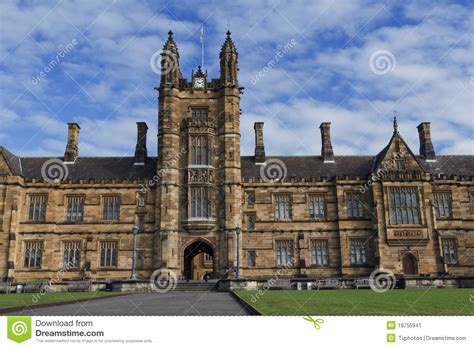 Sydney Uni Mba Time by The Of Sydney The Quadrangle Stock Image