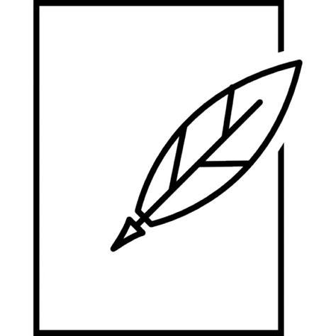 feder und papier umriss der kostenlosen icons - Papier Und Feder